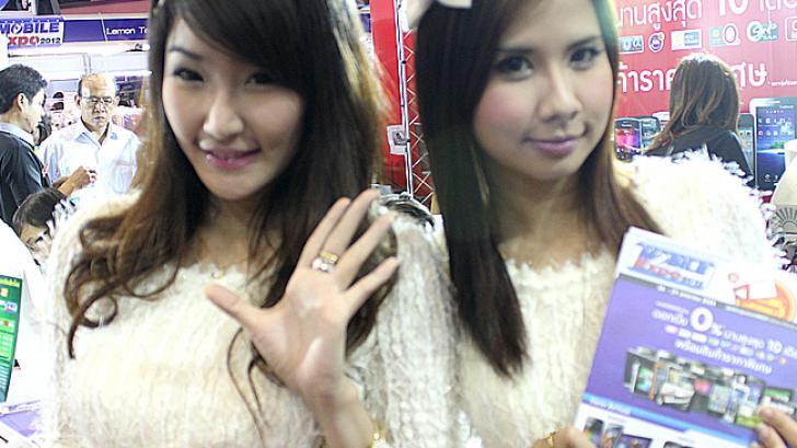 ประมวลภาพ พริตตี้สาวสวย ในงาน Thailand Mobile Expo 2012
