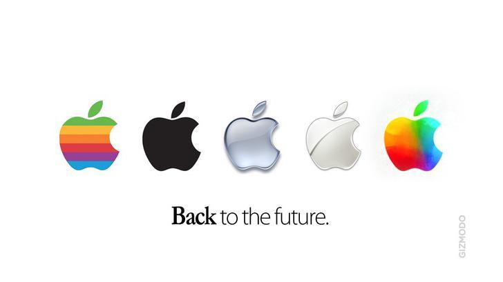 """บริษัท Apple เปลื่ยนโลโก้ รูป """"แอปเปิล"""" เป็นแบบใหม่แล้ว !!!"""