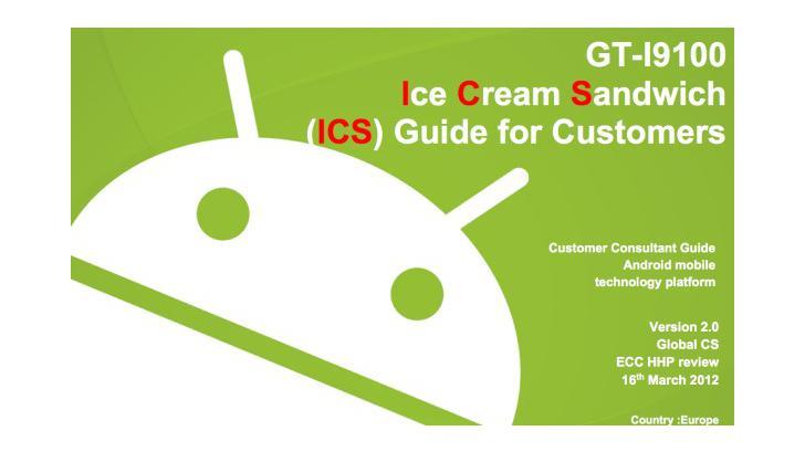 Samsung Galaxy S II ออกอัพเดตเวอร์ชั่น ICS 4.0 แล้วจ้า