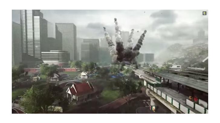 สวนลุมพินี สมรภูมิใหม่ในส่วนเสริมเกมส์ Battlefield 4 Dragon's Teeth