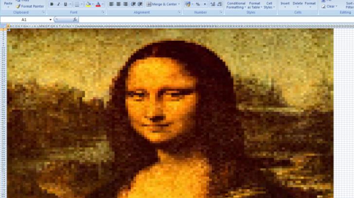 10 ภาพศิลปะสุดเจ๋ง ที่สร้างสรรด้วย Microsoft Excel