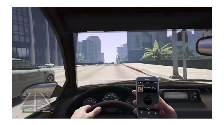 ใช้โทรศัพท์ขณะขับรถ อาจเกิดอุบัติเหตุได้ ไม่เว้นแม้แต่ในเกมส์ GTA V