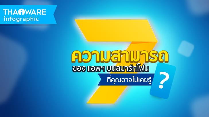 7 ความสามารถของแอปฯบนสมาร์ทโฟน ที่คุณอาจไม่เคยรู้ [Thaiware Infographic 23]
