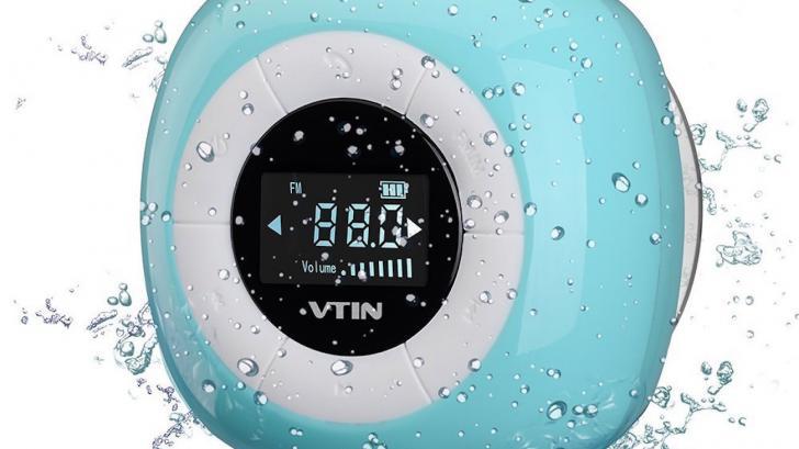 ไม่พลาดทุกการติดต่อแม้ขณะอาบน้ำด้วย Bluetooth 4.0 Shower Speaker จาก Vtin