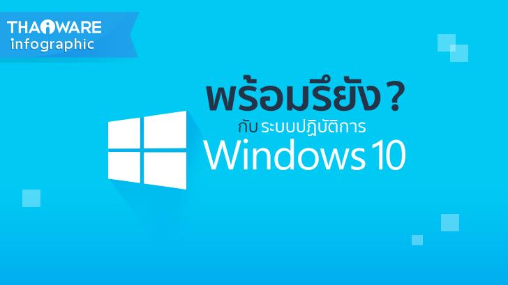 พร้อมหรือยัง? กับระบบปฏิบัติการ Windows 10 [Thaiware Infographic 24]