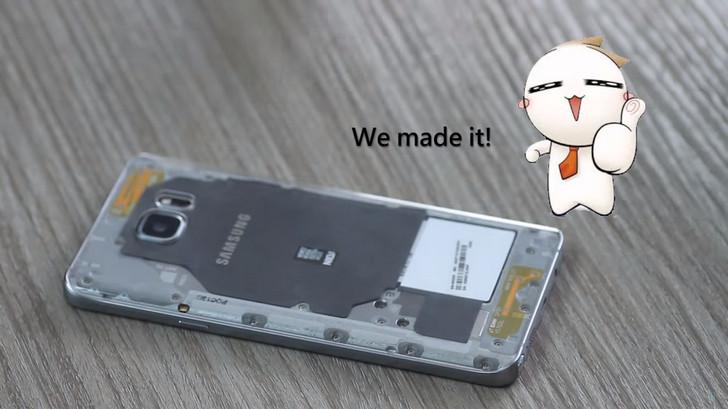 มา DIY ฝาหลัง Galaxy Note 5 ให้ใสแจ๋ว มองทะลุตัวเครื่องกัน