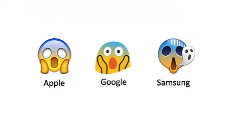 รู้หรือไม่ อีโมติคอน ตัวเดียวกัน การแสดงผลบน iPhone กับ Samsung จะมีหน้าตาไม่เหมือนกัน