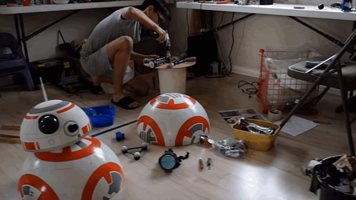 สุดยอด D.I.Y. เด็กอายุ 17 สร้างหุ่นยนต์ BB-8 ขนาดเท่าของจริง บังคับได้ !