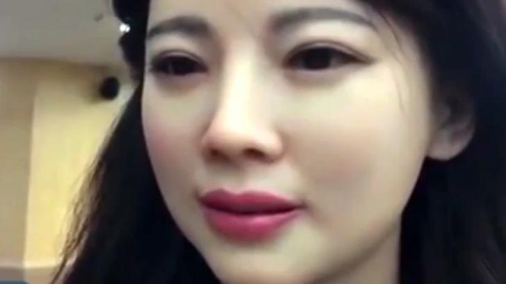 หุ่นยนต์สาวสวย ตัวแรกของจีน ที่พูดคุย เซลฟี่ พร้อมแสดงอารมณ์ทางสีหน้าได้