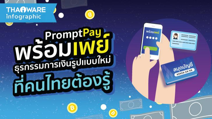 พร้อมเพย์ ธุรกรรมการเงินรูปแบบใหม่ ที่คนไทยต้องรู้ [Thaiware Infographic ฉบับที่ 36]