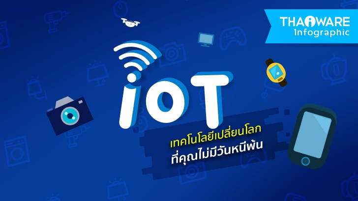 IoT เทคโนโลยีเปลี่ยนโลก ที่คุณไม่มีวันหนีพ้น [Thaiware Infographic ฉบับที่ 43]