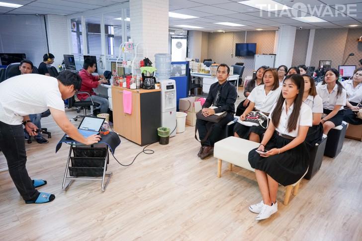 ไทยแวร์ เปิดบ้านต้อนรับ นักศึกษาคณะวิทยาการจัดการ ม.ศิลปากร เรียนรู้การบริหารจัดการเว็บไซต์อย่างใกล้ชิด
