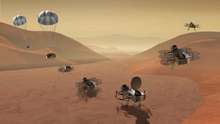 แค่เรือดำน้ำยังไม่พอ NASA เตรียมส่งฝูงโดรนไปสำรวจทรัพยากรของดาวบริวาร Titan
