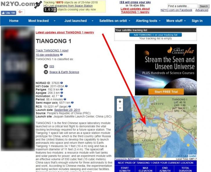 ติดตามตำแหน่งของ สถานีอวกาศจีน ที่จะโหม่งโลกแบบเรียลไทม์ ลุ้นกันจนหายใจหายคอไม่ทัน