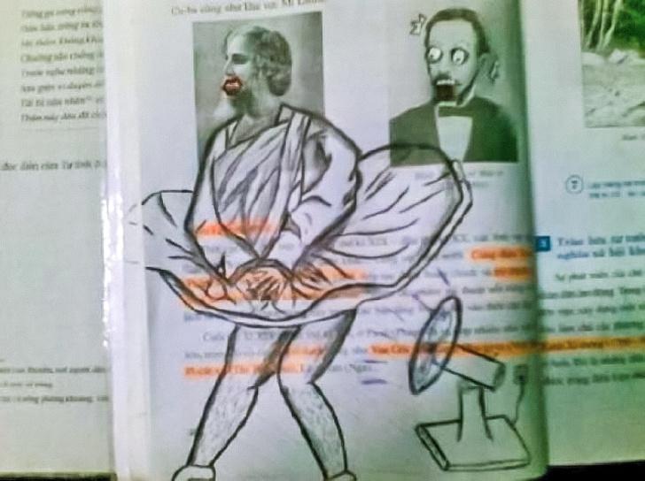 15 ภาพมหัศจรรย์ของการวาดภาพลงไปในหนังสือตำราเรียนที่สมควรได้รับทุนการศึกษา