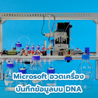 Microsoft โชว์อุปกรณ์เก็บบันทึกข้อมูลด้วย DNA เครื่องต้นแบบ