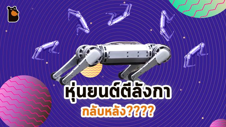 นักวิจัย MIT โชว์สิ่งประดิษฐ์ใหม่! หุ่นยนต์ 4 ขา ตีลังกากลับหลังได้