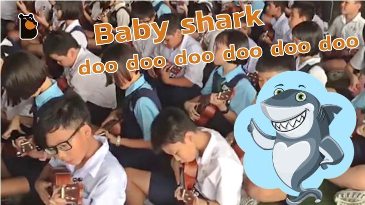 ทำลายสถิติโลก เด็กนักเรียนมาเลเซีย 2,869 คนเรียนเล่นเพลง Baby shark ด้วยอูคูเลเล่