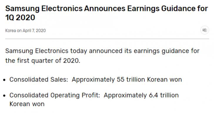 Samsung เผย COVID-19 ทำยอดกำไรในไตรมาสแรกเติบโตน้อยที่สุดในช่วง 5 ปี