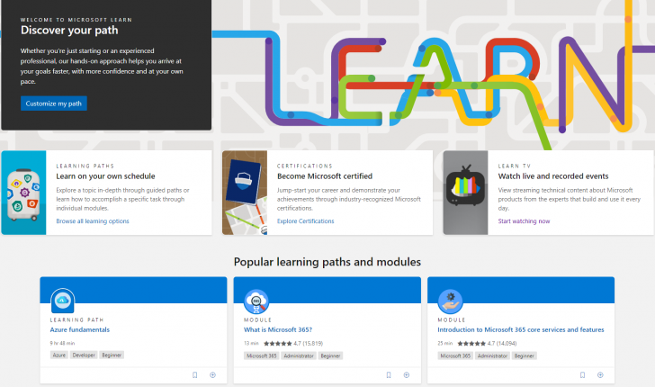 Microsoft เพิ่มคอร์สออนไลน์ฟรีและลดราคาการสอบ Microsoft Certifications