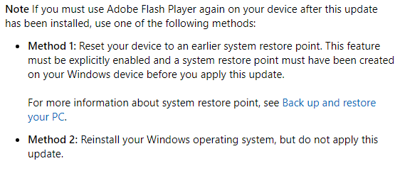 Microsoft เพิ่มอัปเดต Windows 10 ถอนการติดตั้ง Flash Player ออกจากเครื่องแบบถาวร