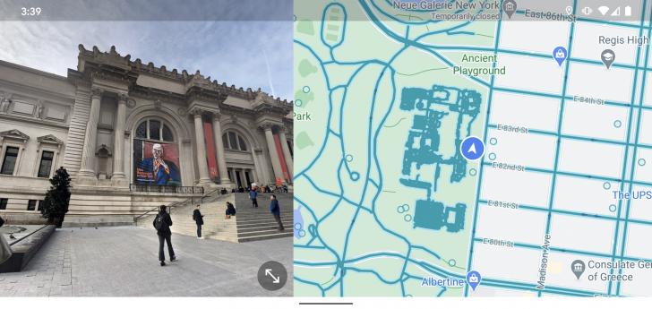 Google Maps บนมือถือ Android สามารถแบ่งครึ่งจอแผนที่กับโหมด Street View ได้แล้ว