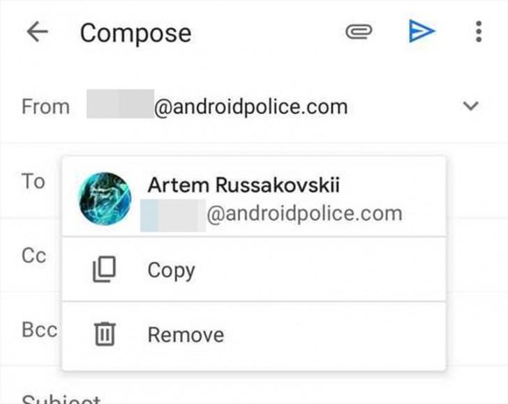 Gmail อัปเดตให้สามารถคัดลอกและวาง E-Mail address ขณะเขียนอีเมลได้ง่ายขึ้น