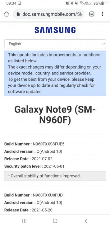 ยังไม่ลอยแพ ! ซัมซุงปล่อยอัปเดตด้านความปลอดภัยให้ Galaxy Note9 ประจำเดือนกรกฎาคม