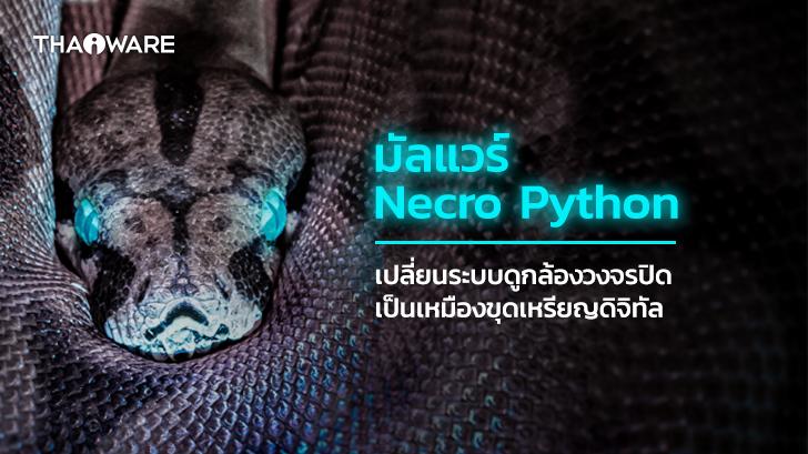 Necro Python Botnet ตัวฉกาจ เปลี่ยนเครื่องมือดูกล้องวงจรปิดให้กลายเป็นเหมืองขุดเหรียญดิจิทัล